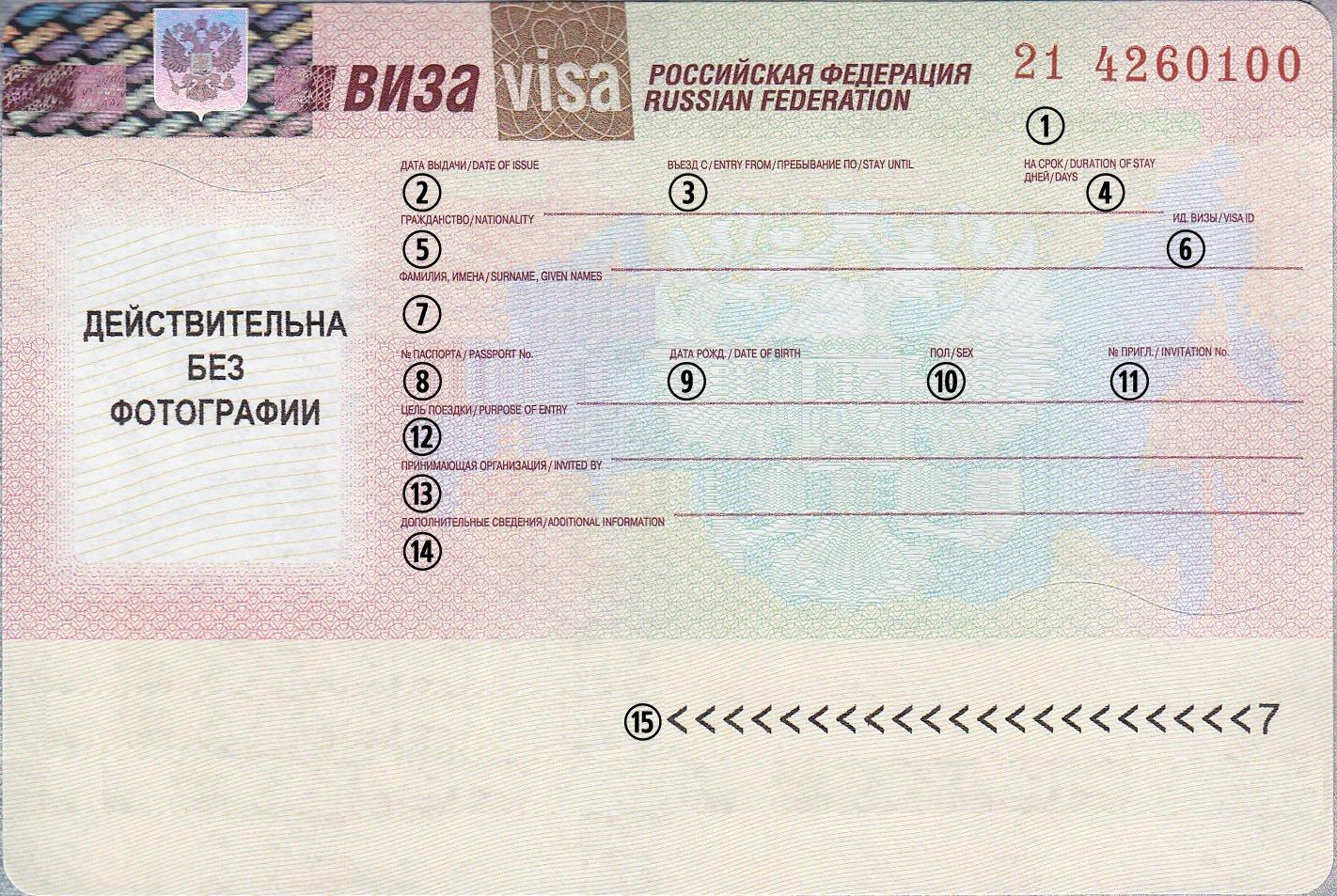 семейная виза в россию